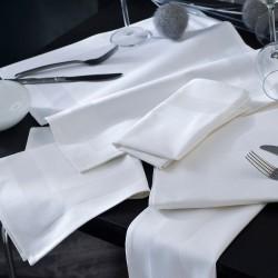 Serviette - Bande Satin Blanc